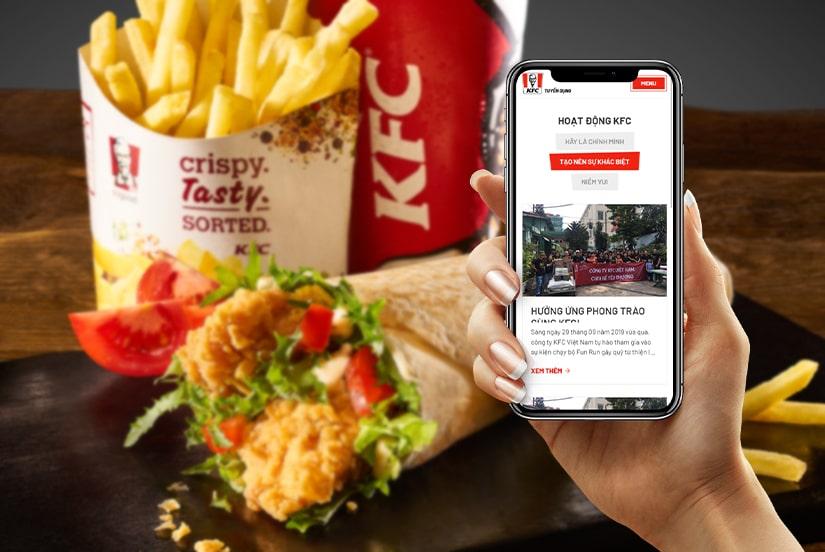 Cánh Cam thiết kế website tuyển dụng cho KFC ảnh 1