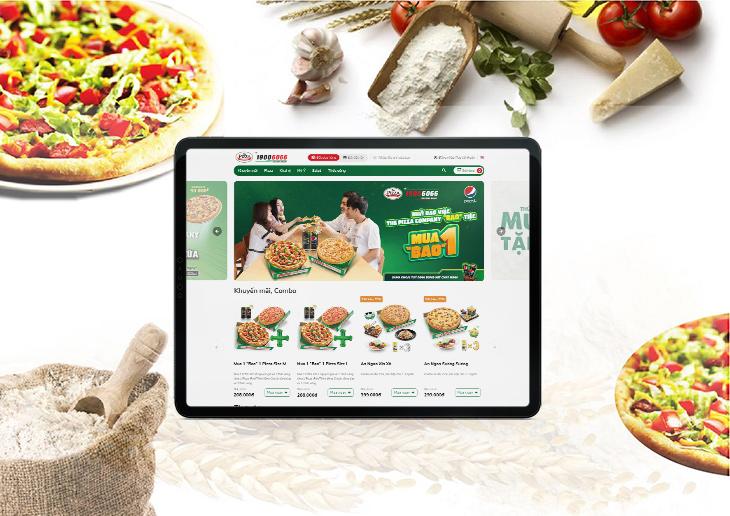 The Pizza Company thiết kế website tại Cánh Cam