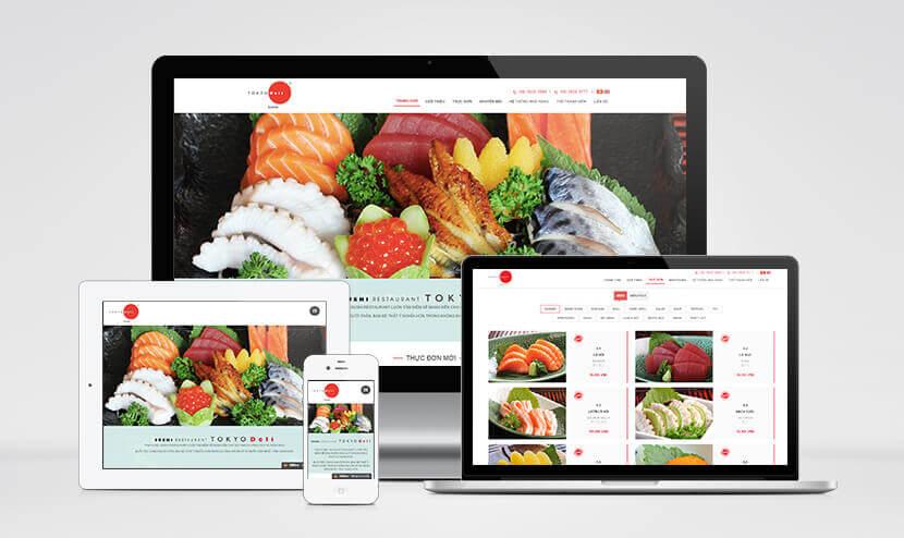 Thiết kế website Tokyo Deli phong cách Nhật Bản